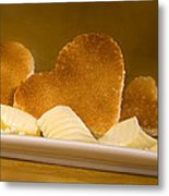 Toast Hearts With Butter Metal Print