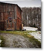 Tobacco Barn Metal Print