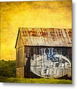 Tobacco Barn In Kentucky Metal Print