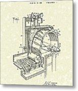 Tobacco Machine 1932 Patent Art Metal Print