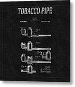 Tobacco Pipe Patent 4 Metal Print