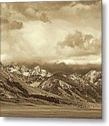 Tobacco Root Mountain Range Montana Sepia Metal Print by Jennie Marie Schell