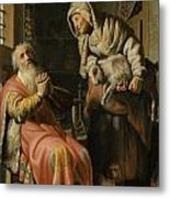Tobit And Anna With The Kid Metal Print