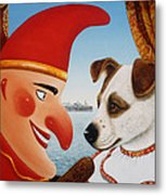 Toby And Punch, 1994 Oils And Tempera On Panel Metal Print