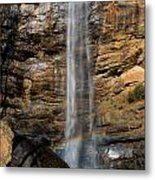 Toccoa Falls With Rainbow Metal Print