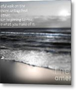 Today Black And White Metal Print by Jeffery Fagan