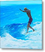 Toes To The Nose Metal Print