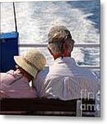 Together In Greece Metal Print