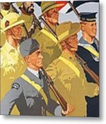 Together Propaganda Poster Metal Print by Anonymous