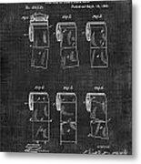 Toilet Paper Patent 040 Metal Print