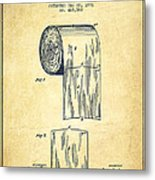 Toilet Paper Roll Patent Drawing From 1891 - Vintage Metal Print