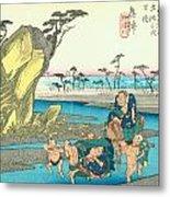 Tokaido - Okitsu Metal Print