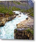 Tokuum Creek Flowing Into Marble Canyon In Kootenay Np-bc Metal Print