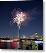 Tokyo Bay Fireworks Metal Print