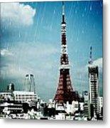 Tokyo Eiffel  Metal Print