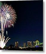 Tokyo Fireworks Metal Print