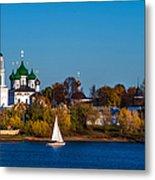 Tolga Monastery At River Volga Metal Print