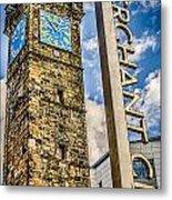 Tollbooth Clock Tower Glasgow Metal Print