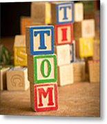 Tom - Alphabet Blocks Metal Print
