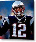 Tom Brady Back To The Super Bowl Metal Print