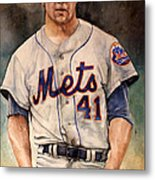Tom Seaver Metal Print by Michael  Pattison