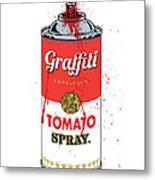 Tomato Spray Can Metal Print