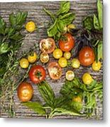 Tomatoes And Herbs Metal Print