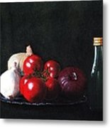Tomatoes And Onions Metal Print by Anastasiya Malakhova