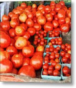 Tomatoes For Sale Metal Print
