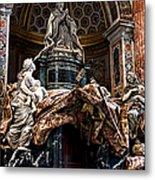 Tomb Of Pope Alexander Vii By Bernini Metal Print