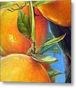 Tombee d Oranges Metal Print