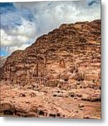 Tombs Of Petra Metal Print