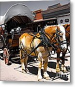 Tombstone Wagon Metal Print