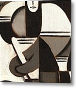 Tommervik Abstract Cubism Hockey Player Art Print Metal Print