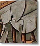 Tommervik Abstract  Elephant Art Print Metal Print