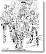 Tommy And Ben Are Like Green Berets Metal Print