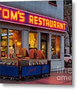 Tom's Restaurant Metal Print