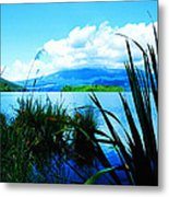 Tongariro National Park Oil On Canvas Metal Print