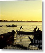 Tonle Sap Sunrise 05 Metal Print