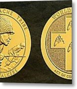 Tonto Apache Tribe Code Talkers Bronze Medal Art Metal Print