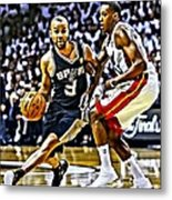 Tony Parker Painting Metal Print