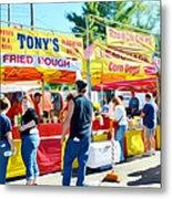 Tonys Concessions Potato Garlic Soup Bread Bowl Metal Print
