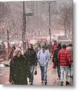 Too Soon The Snow Metal Print