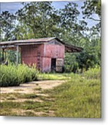 Tool Shed Out Back Metal Print