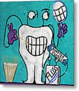 Tooth Pick Dental Art By Anthony Falbo Metal Print