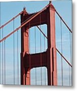 Top Of Golden Gate Bridge Metal Print