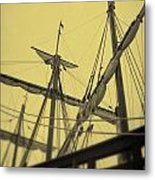 Top Of Old Ship Metal Print