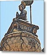 Top Of Stone Pillar In Bhaktapur Durbar Square In Bhaktapur-nepal Metal Print