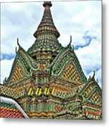 Top Of Temple In Wat Po In Bangkok-thailand Metal Print