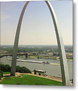 Top Of The Riverfront Metal Print